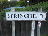 Springfield street sign - before it lost its leg