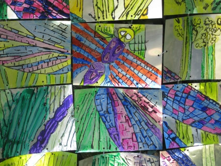 Dragonfly artwork produced by The Box Alternative Education project for the Swaines Green Lantern Festival in September 2009